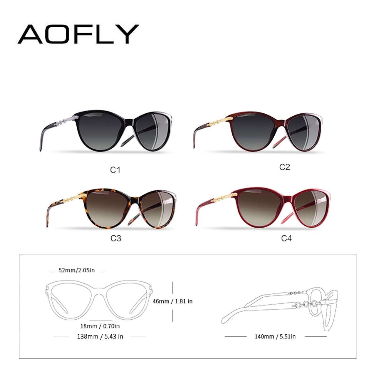 876275de47 AOFLY BRAND DESIGN Cat Eye Polarized Sunglasses Women Polarized Sun Glasses  Female Gradient Shades Oculos Feminino UV400