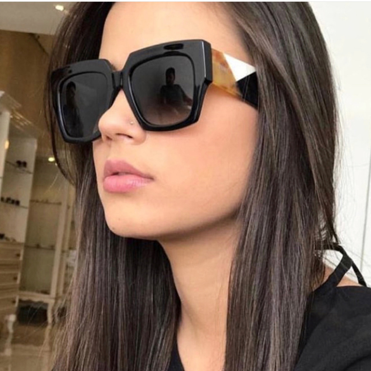 02023ac79833 Square Oversized Sunglasses Women Luxury Brand 2019 New Designer Gradient Sun  Glasses Big Frame Vintage Eyewear ...