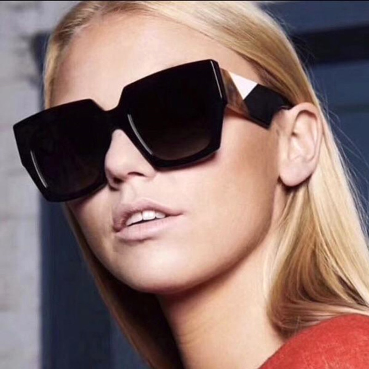 aed8c7b5cacf ... Square Oversized Sunglasses Women Luxury Brand 2019 New Designer  Gradient Sun Glasses Big Frame Vintage Eyewear ...
