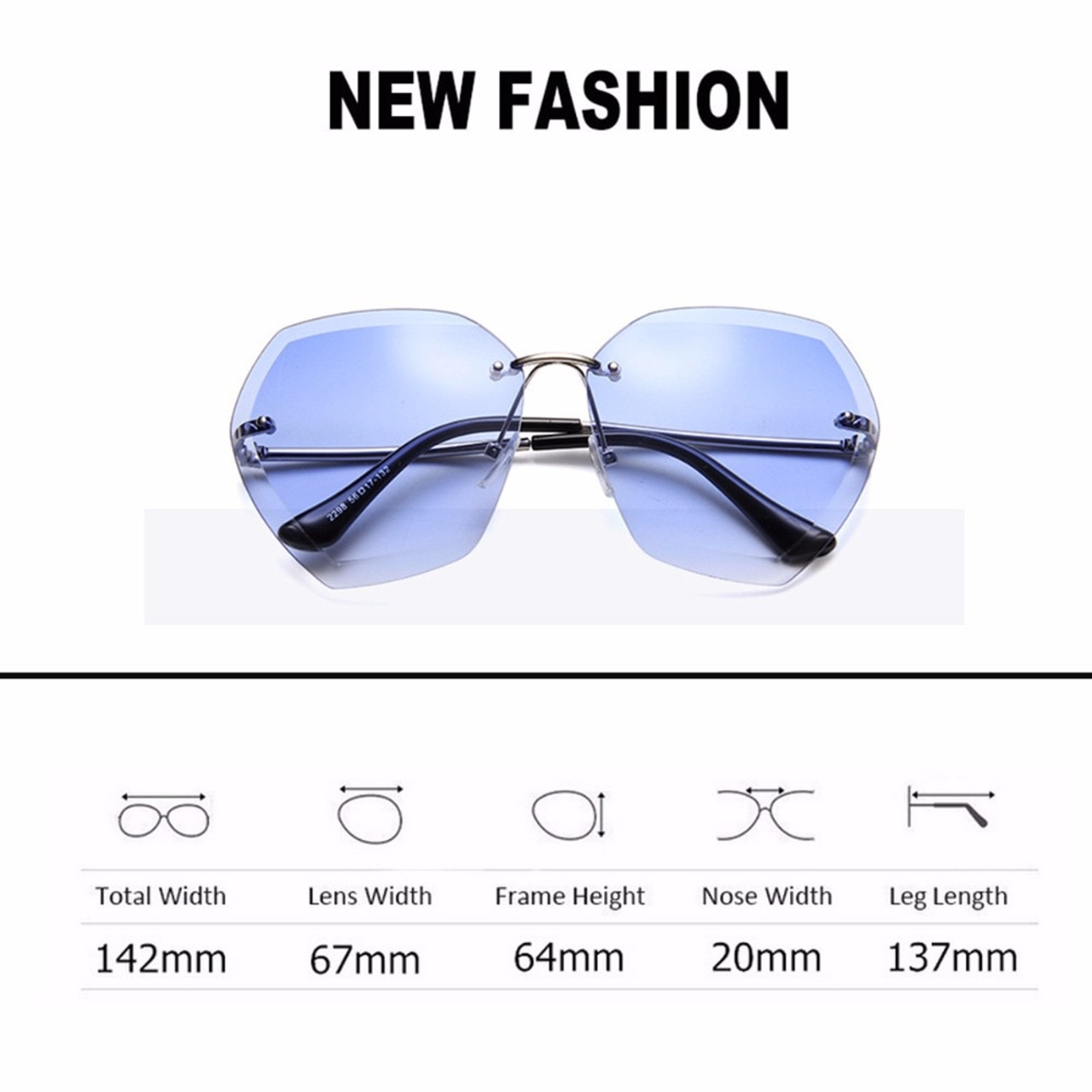 d499a5ba2 ... 2018 Luxury Vintage Rimless sunglasses women Brand Designer Oversized sunglasses  Female sun glasses for lady Mirror ...