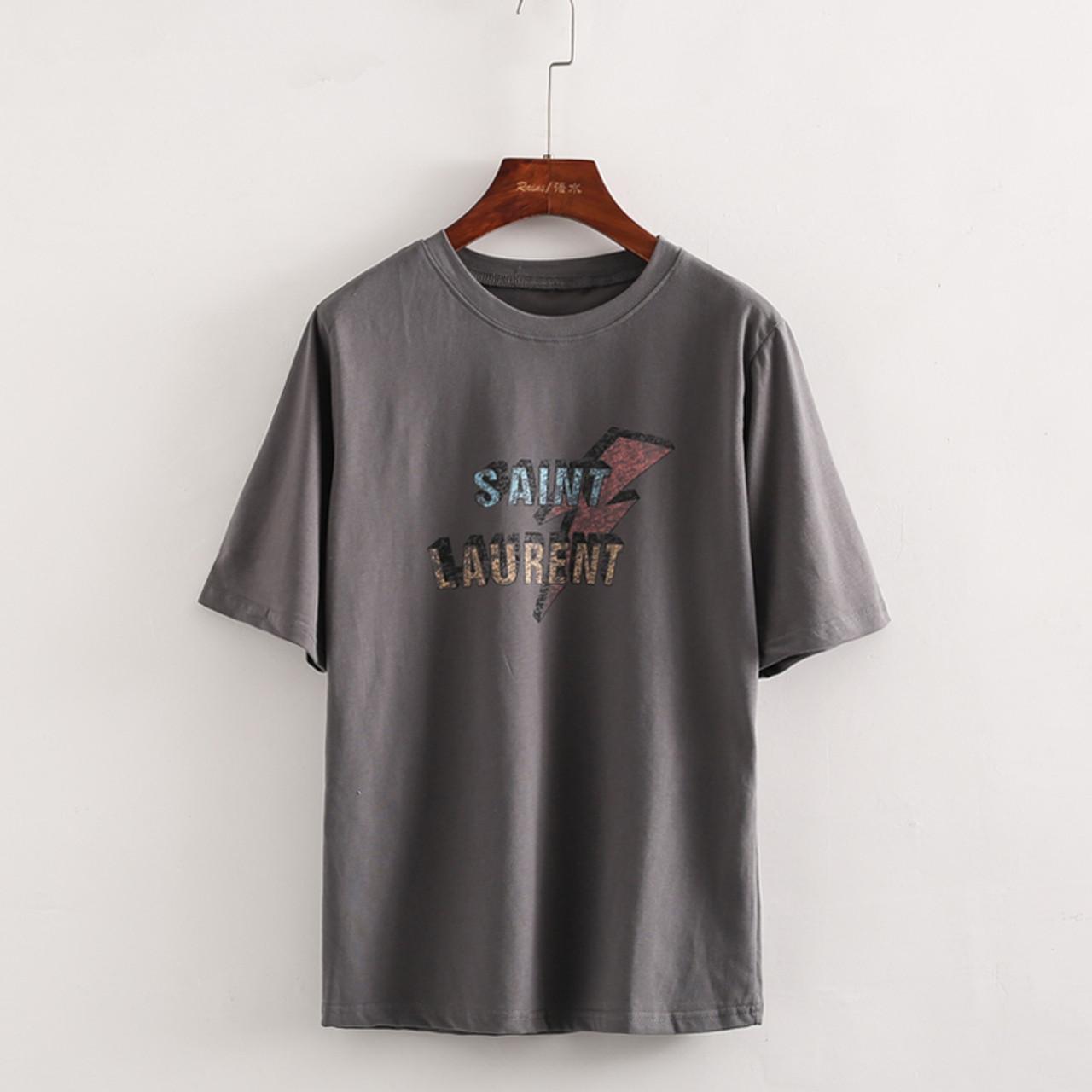 4e8731516b4e ... Female Summer O-Neck Short Sleeve Cotton T-Shirts Women Fashion Letter  Print Loose ...