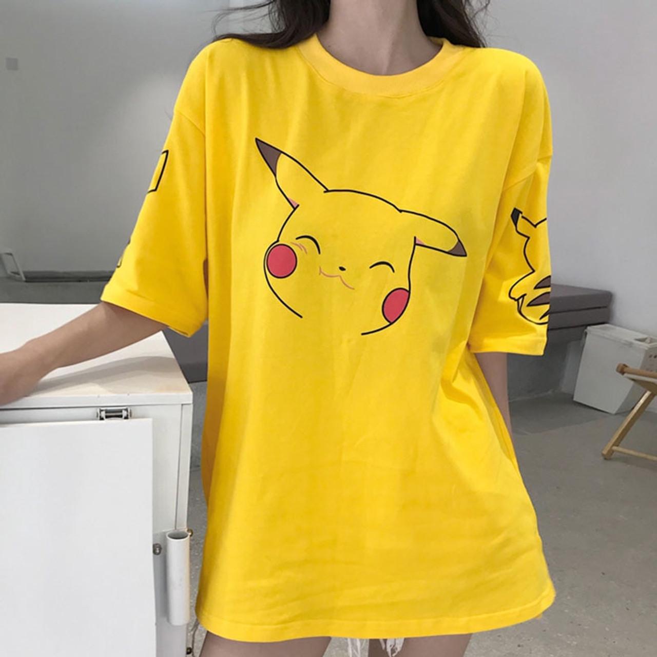 095d17f277 Harajuku Kawaii Cartoon Print Short Sleeve long T Shirt Tops Women Summer  Korean Fashion Yellow Cute ...