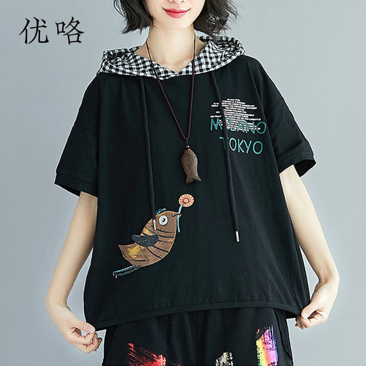 973c157ad0981 2019 Summer Harajuku Hoody T Shirt Women Plus Size Kawaii Bird Printed  Cotton T Shirt Femme Casual Loose Tee Shirts 4XL 5XL 6XL