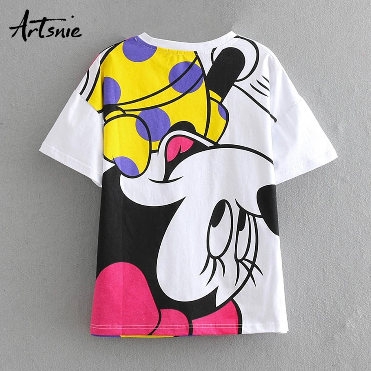 2019 Summer Fashion Cotton Pattern T-Shirt Men Cartoon with Short Sleeve Top Tees White