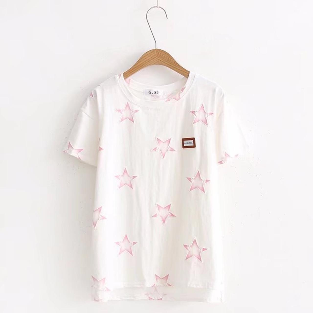 Men/'s Women Headphone Man Pattern Short Sleeve T-shirt Neck Pullover Shirt Tops