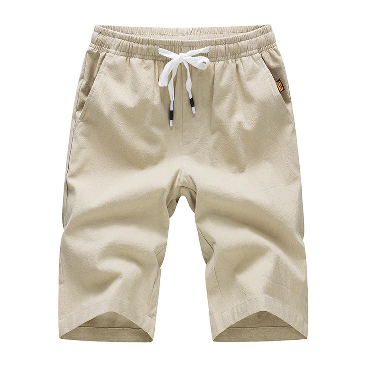6d12afdd41 Cotton Slim Fit Casual Shorts Men Brand Boardshorts Drawstring Mens Short  Hot Sale Male Summer thin Bottoms Beach Short
