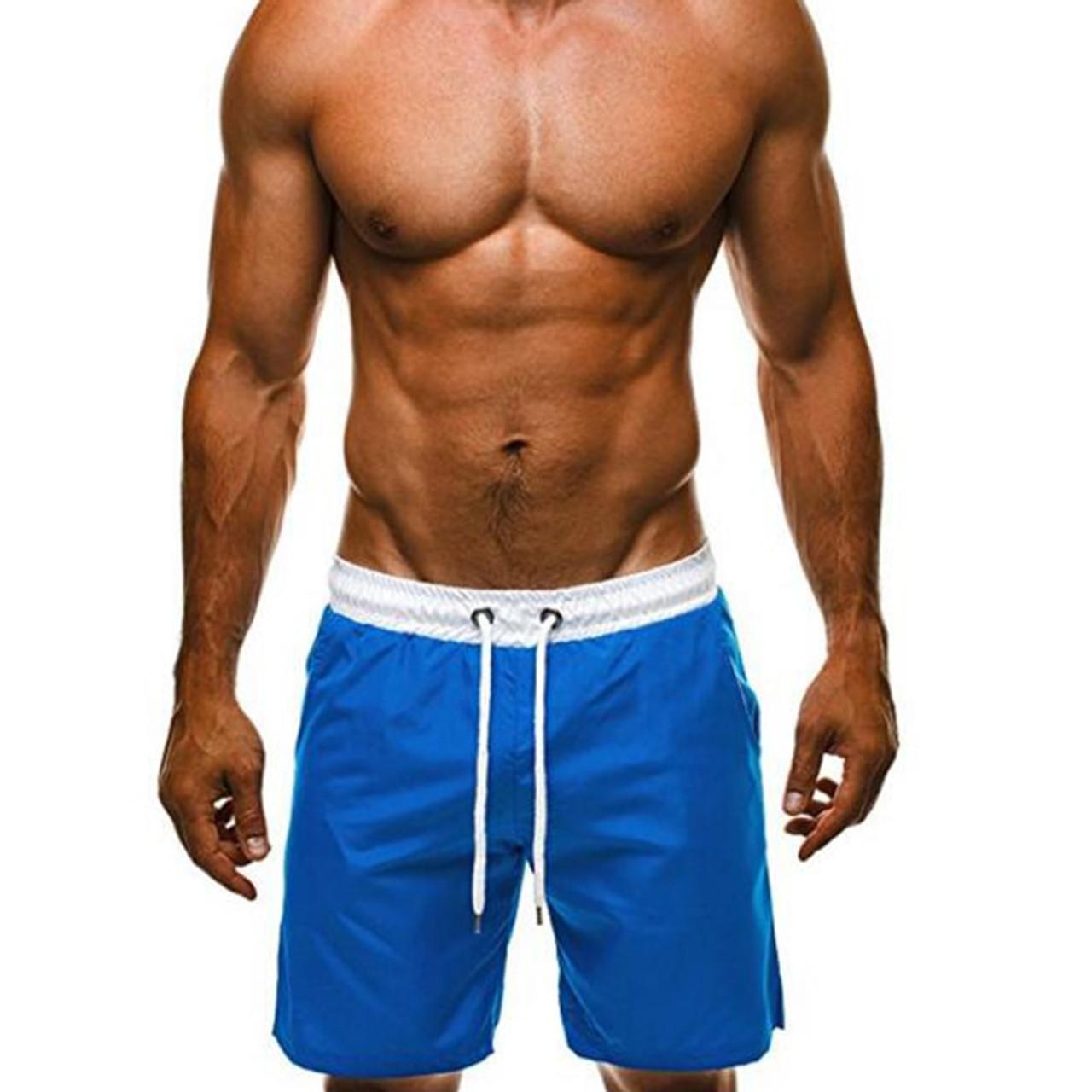Mens Boardshorts Surf Board Swim Wear Beach Sports Low Rise Trunk Shorts Pants