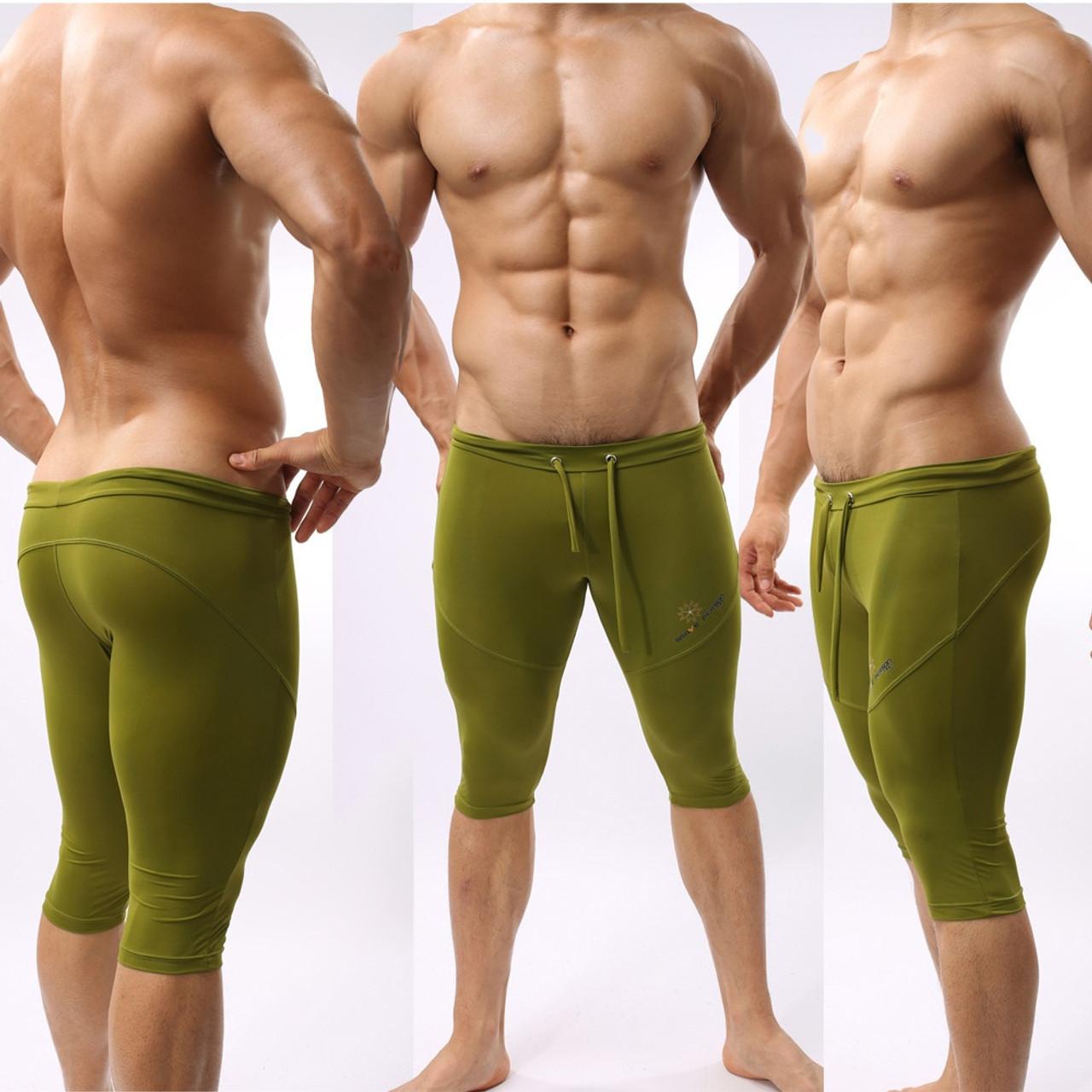 54b23b0aa9 ... Mens boardshorts 2019 shorts tight fitness shorts for mens men beach  shorts brand santic men modal ...
