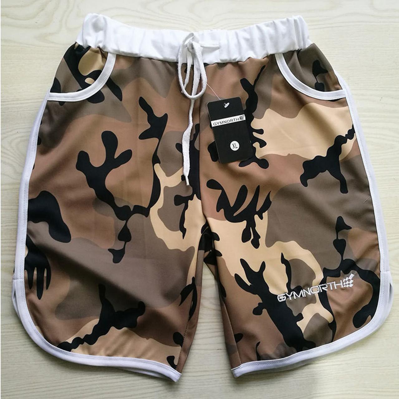9ec243cbe9c ... YEMEKE Shorts Mens 2018 Summer Men Beach Hot Cargo Simple Letter Solid  Men Boardshorts Male Brand ...