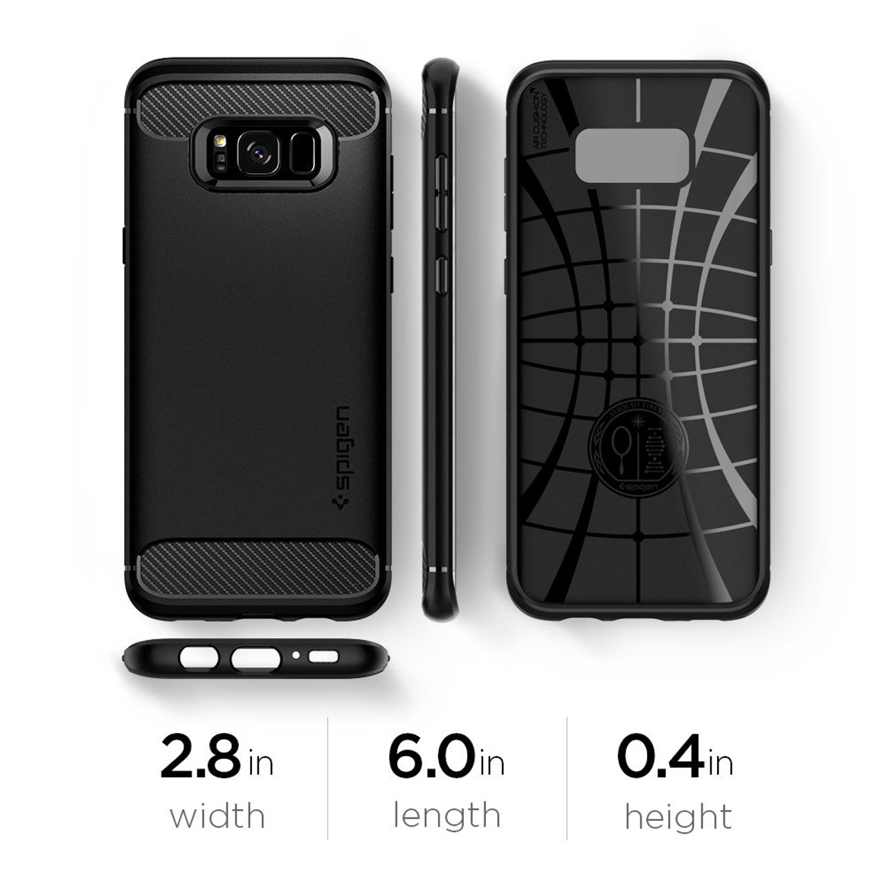 the best attitude ca356 4a420 100% Original SPIGEN Rugged Armor Case for Samsung Galaxy S8 (5.8 inch)  with Retail Package