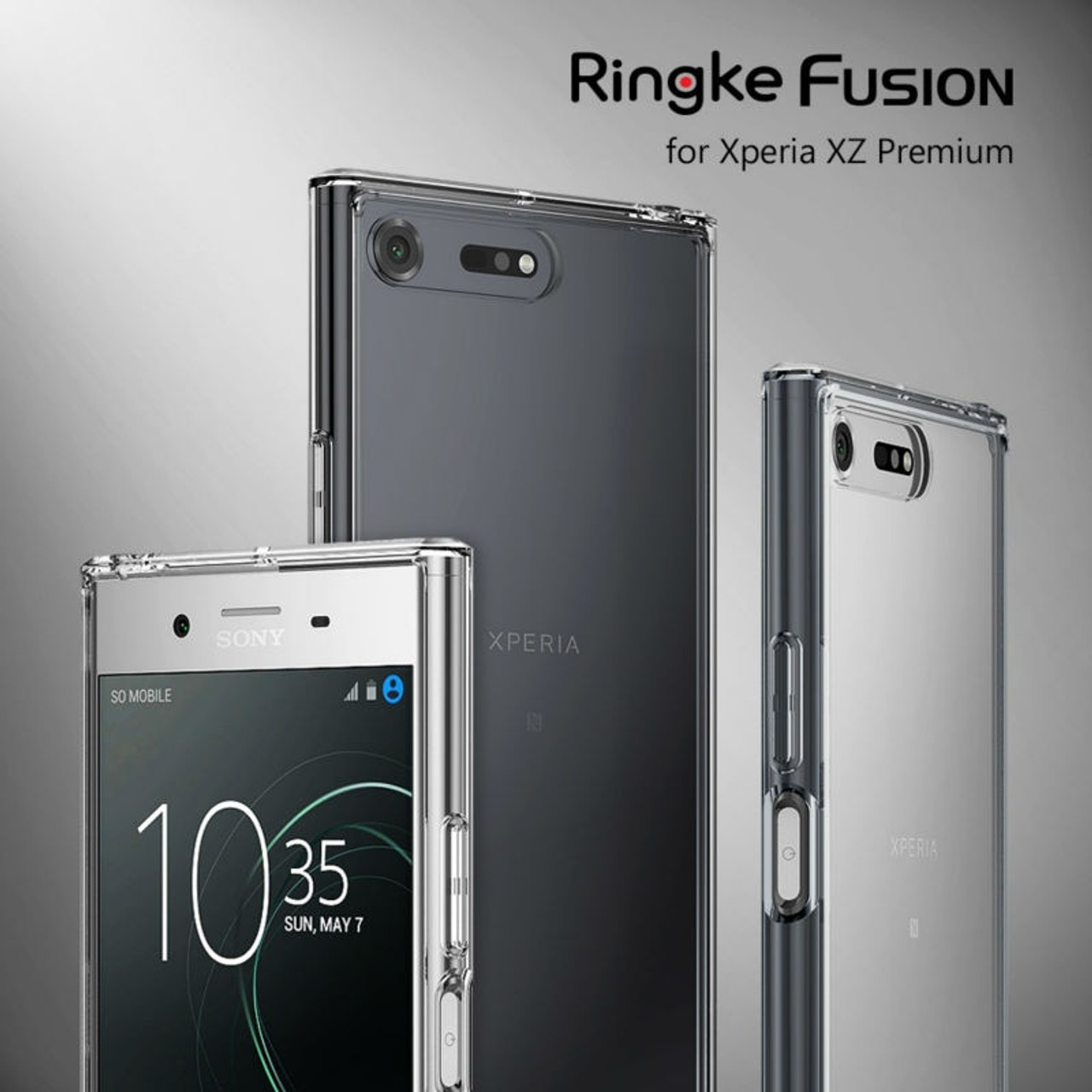 new style 236ca 5ff72 Ringke Fusion Case for Sony Xperia XZ Premium Case Crystal Clear PC Back  Cover and Soft TPU Frame Hybrid Cases Drop Protect
