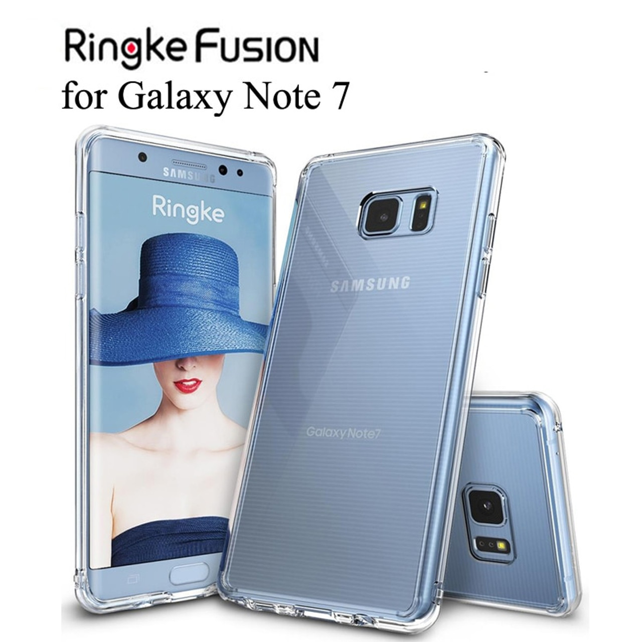 new product 9ce3d 26d03 Ringke Fusion for Galaxy Note 7 Case Flexible Tpu and Clear Hard Back Cover  Hybrid Note FE Case for Galaxy Note Fan Edition