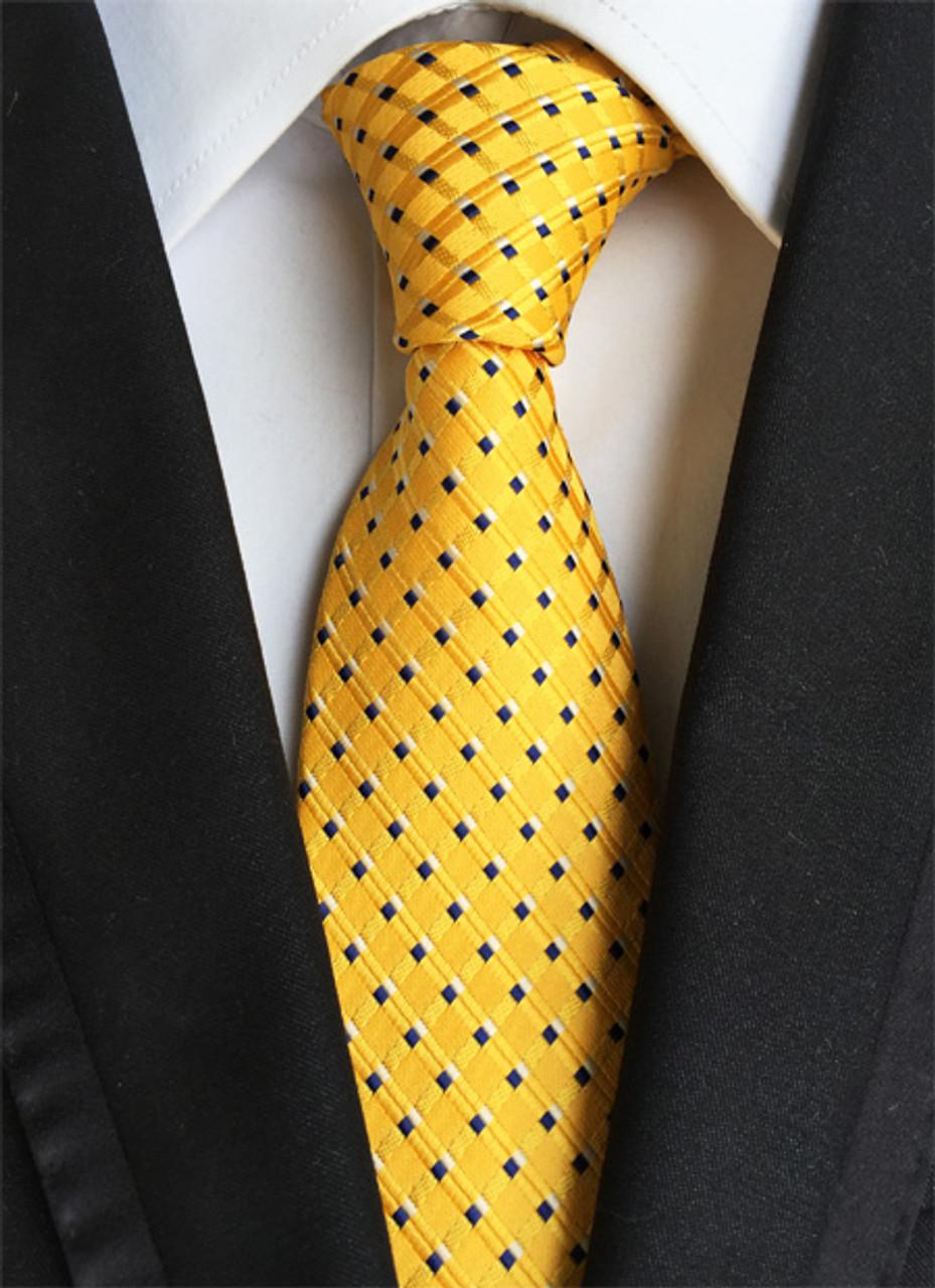 New Classic 100/% Silk Men/'s Tie Polka Dot Red White JACQUARD WOVEN Necktie