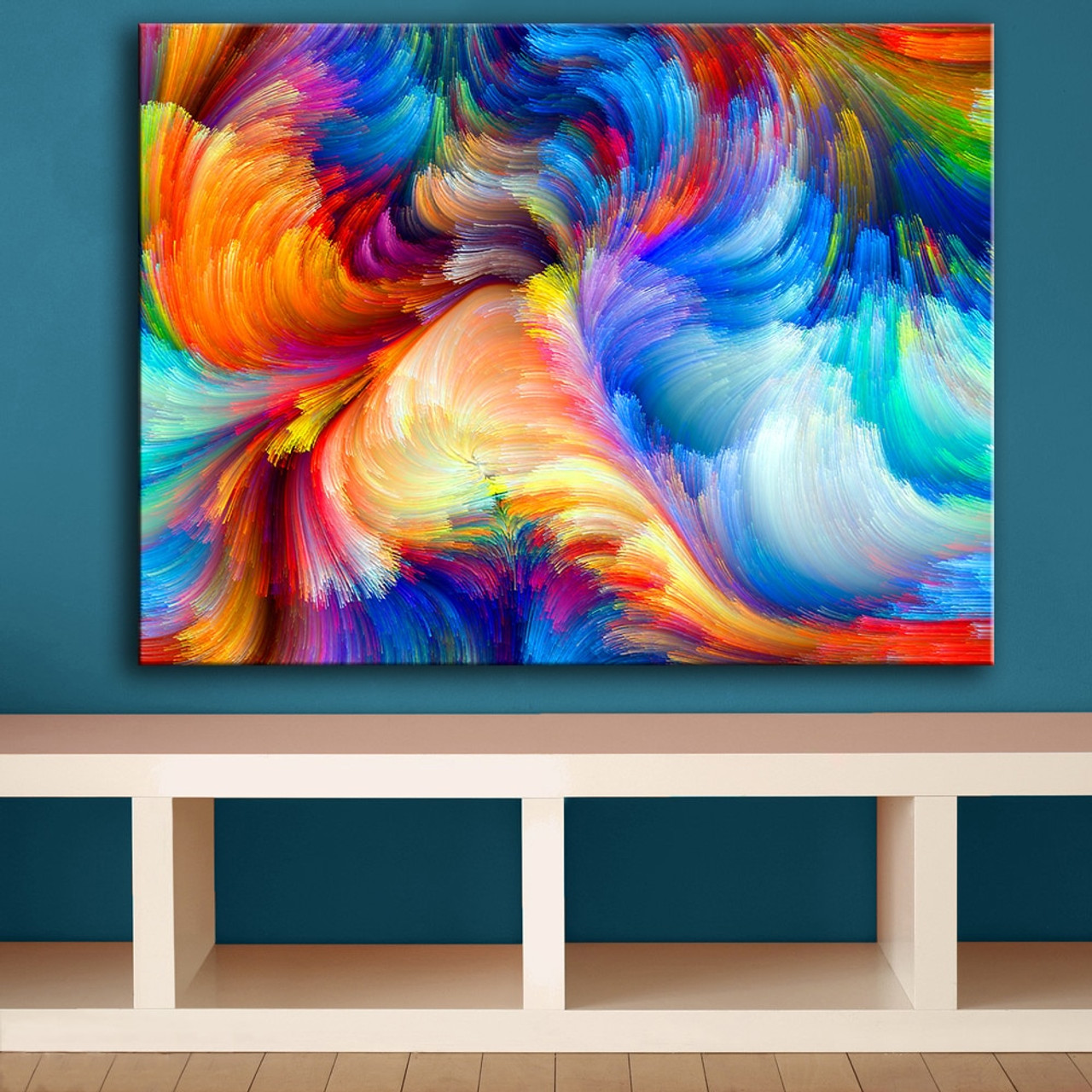 Huge Size Rainbow The Color Blur Pattern Wall Painting For Home Decor Ideas Print On Canvas Oil Painting No Frame Onshopdeals Com
