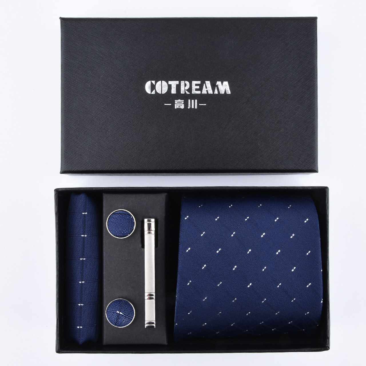 94dd276c800e ... 3.35 inch(8 cm) Wide Tie Set Gift Box Packing For Men Handkerchief  Cufflink ...