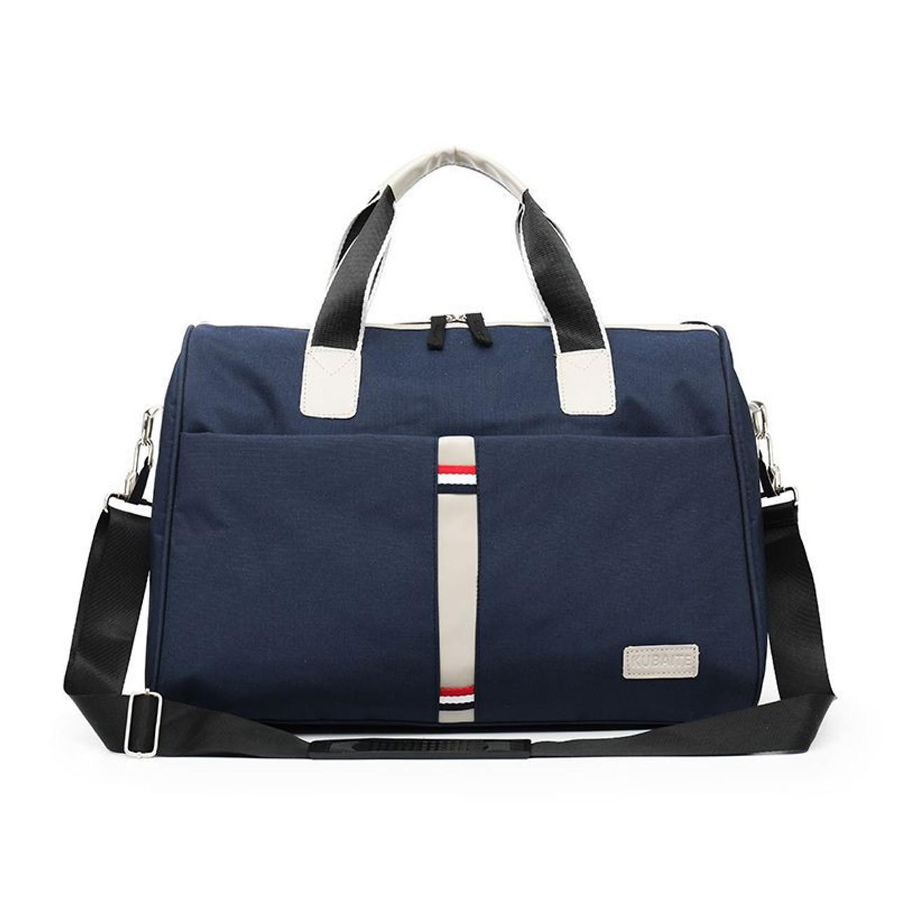 Gym Bag Sports Holdall Blue Rose Canvas Shoulder Bag Overnight Travel Bag for Men and Women