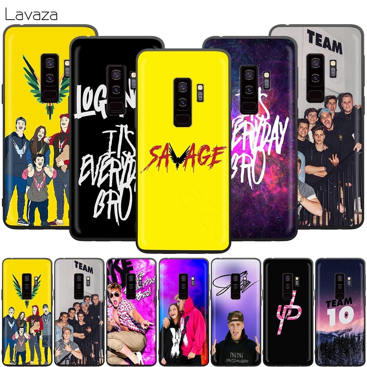 9a992e90e Lavaza Jake Paul Team 10 Case for Samsung Galaxy S10 S9 S8 S7 S6 Plus Note  ...