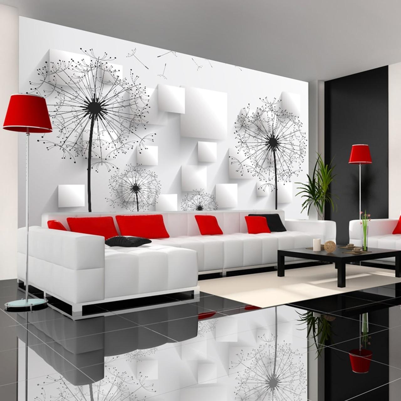 Custom Photo Wallpaper 3D Stereoscopic Dandelion Wall ...