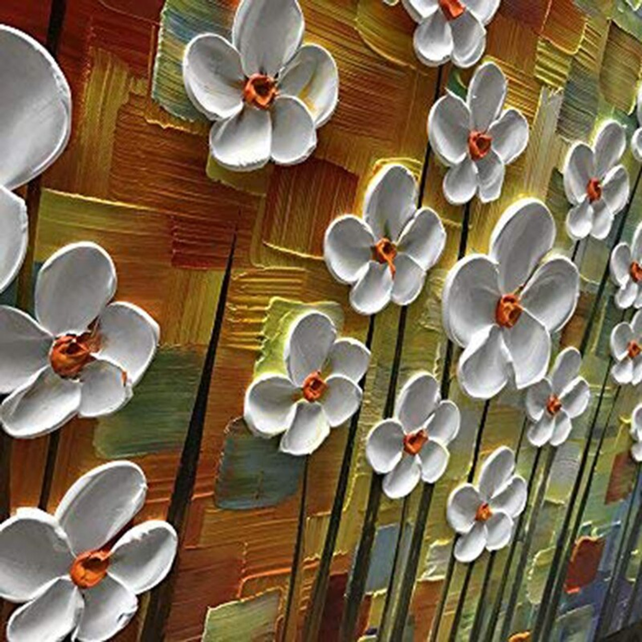 Hundred Flowers Together 3d Canvas Painting Wall Art Living Room Bedroom Restaurant Interior Hand Painted Oil Painting Onshopdeals Com