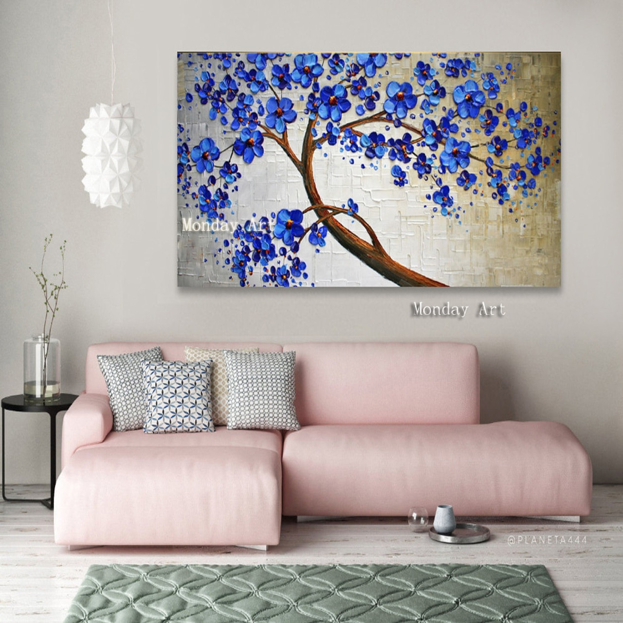Modern Handpainted Large Gold Money Tree Flower Oil Painting On Canvas Abstract Home Wall Decor Art Picture For Living Room Gift Onshopdeals Com