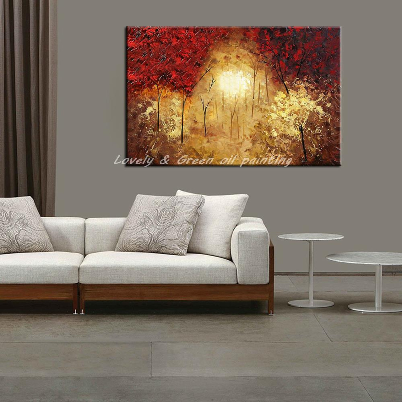 Living Room Bedroom Art Oil Painting Modern 100/% Hand-Painted Home Decoration Color Abstract Landscape Canvas Painting 40x64inch Without a frame-100x160cm Wall Art Oil Painting