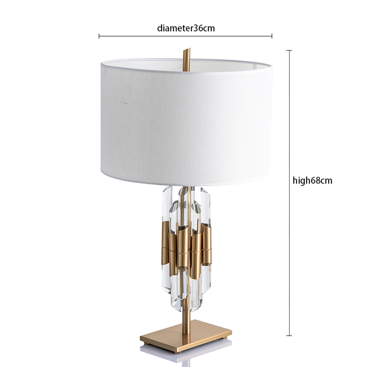 Modern Nordic Gold Crystal Glass Bedside Table Lamps For Pedestal Table The Bedroom Living Room Home Deco Onshopdeals Com