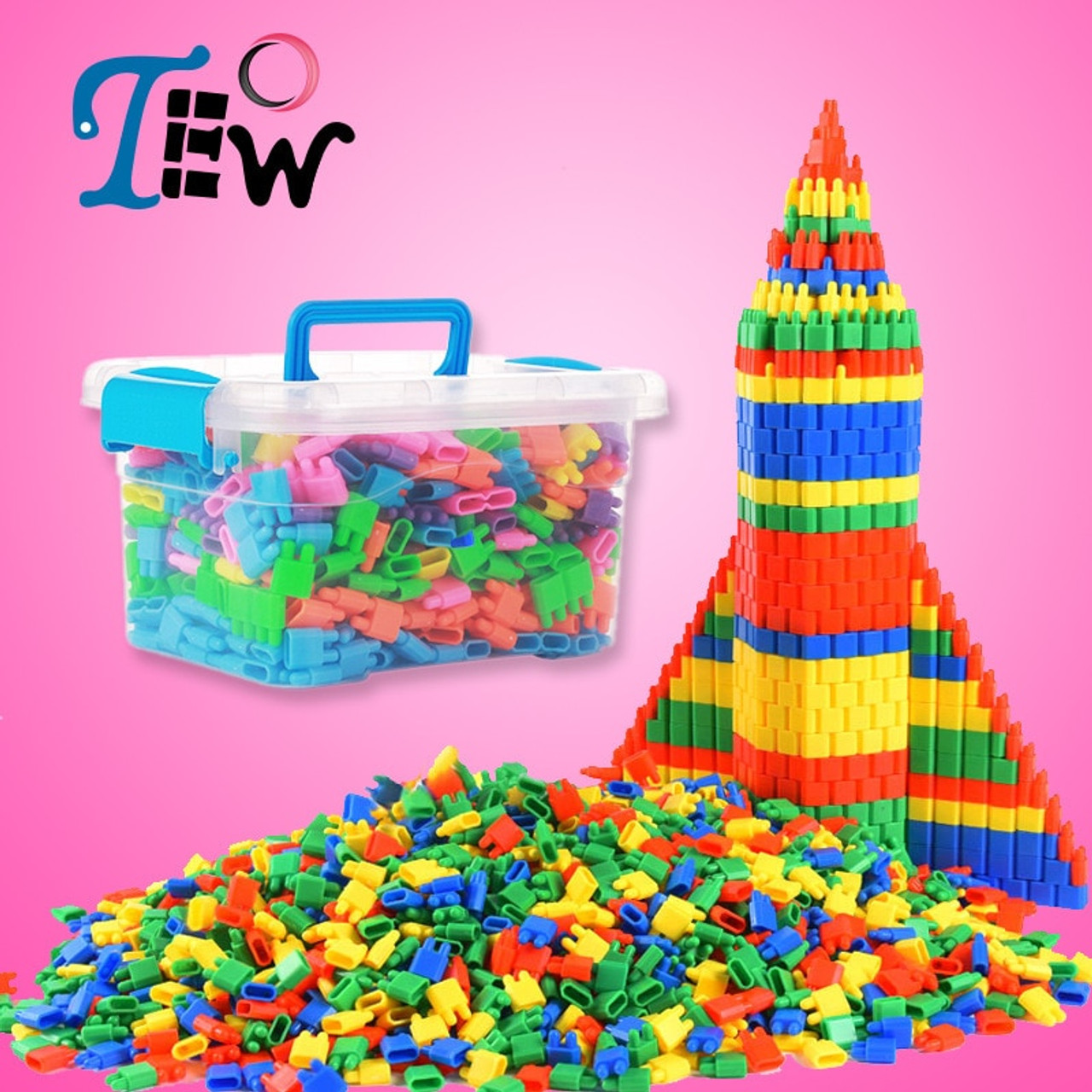 Colourful Toy Puzzle Plastic Building Blocks Bricks Baby Children New Hot