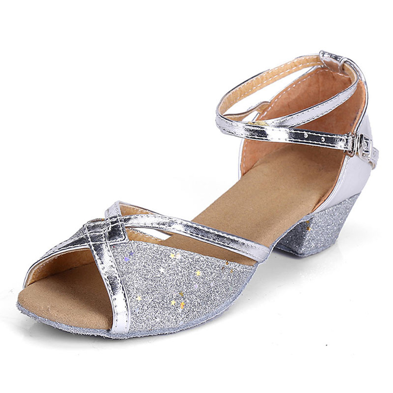 Brand New Women Children Girl/'s Ballroom Latin Tango Dance Shoes heeled SalsaWZJ