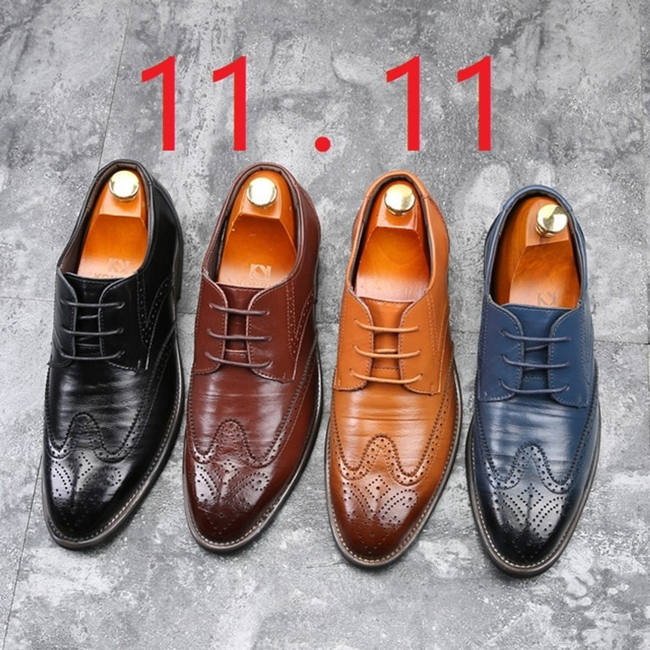Mens Oxford Leather Dress Shoes Modern//Classic / Brogues Lace Ups Pig/'s Leather Insole Rubber Outsole Brown Leather Uppers