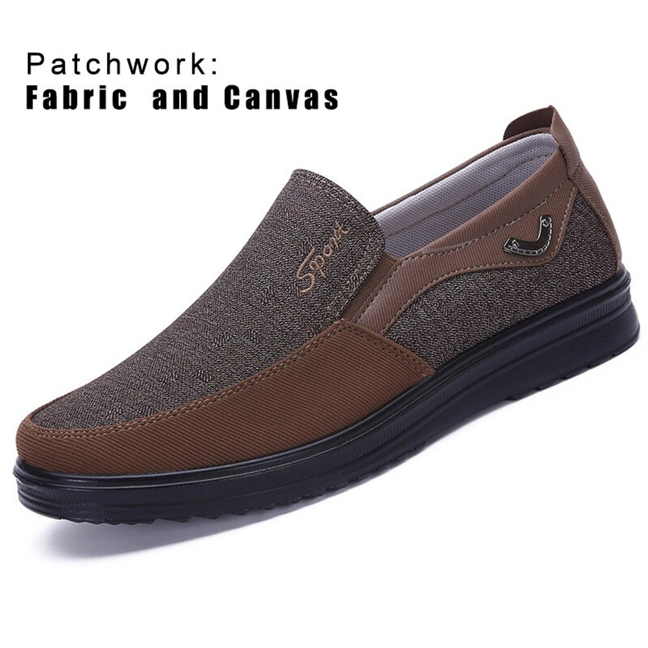 Men Moccasins Canvas Loafers Driving Flat Slipper Casual Shoes Boat Slip On Size