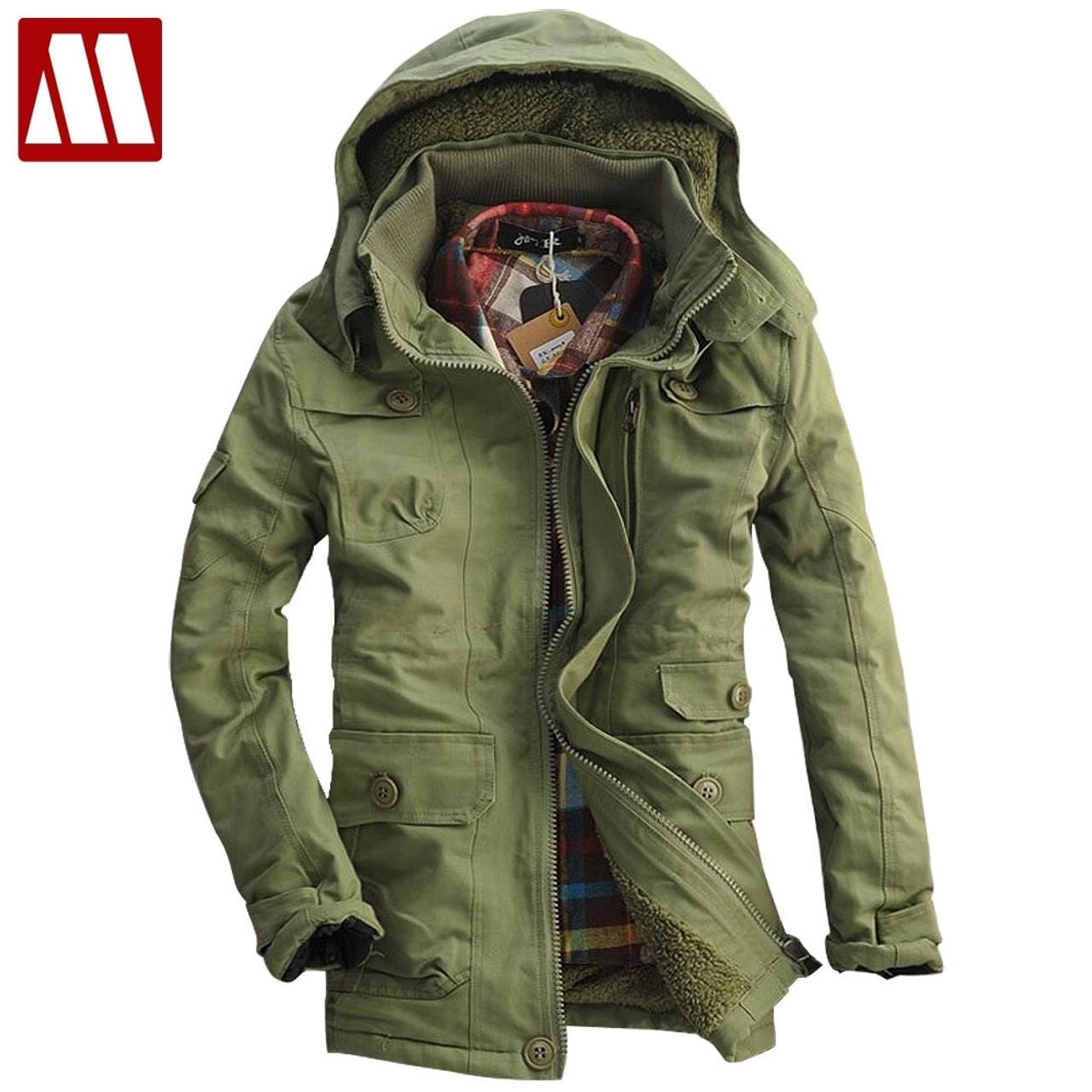 Padded Winter Warm Hooded Faux Fur Cotton Overcoat Outwear Thicken Men/'s Parka
