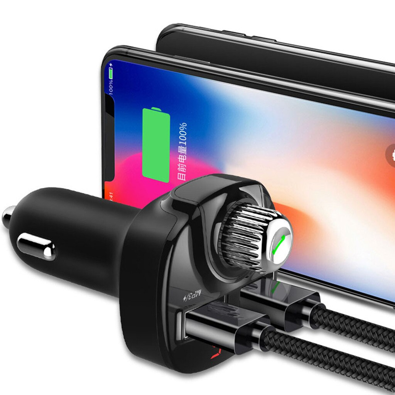 Car Bluetooth FM Transmitter Wireless Radio Adapter Dual USB Charger MP3 Player