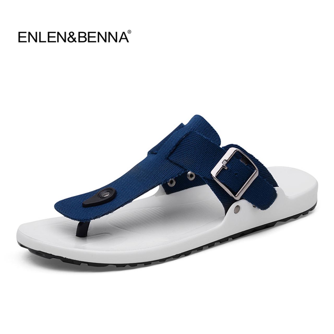 Black White Printed Non-slip Slipper Slides Flip Flop Sandals Summer Casual for Mens