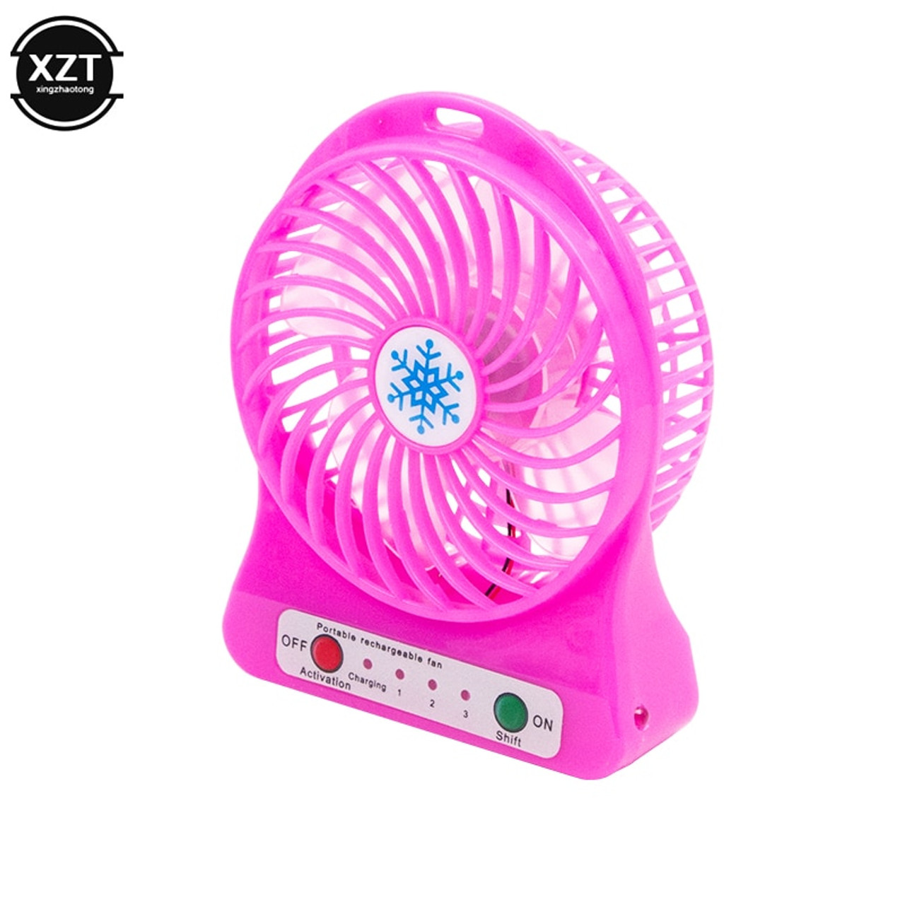 Quiet Mini Fan LED Light Air Cooler Desk Rechargeable USB Battery Portable US