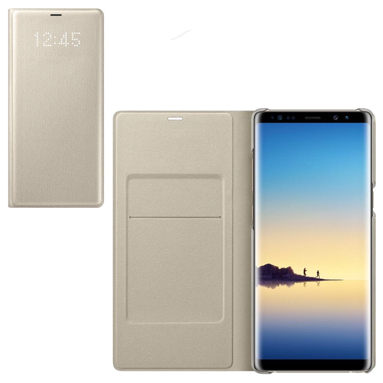 online retailer 631b7 0093b Original Samsung Galaxy NOTE 8 N950F Intelligent LED View Cover Flip Wallet  Case sleep function Automatic wake screen on feature