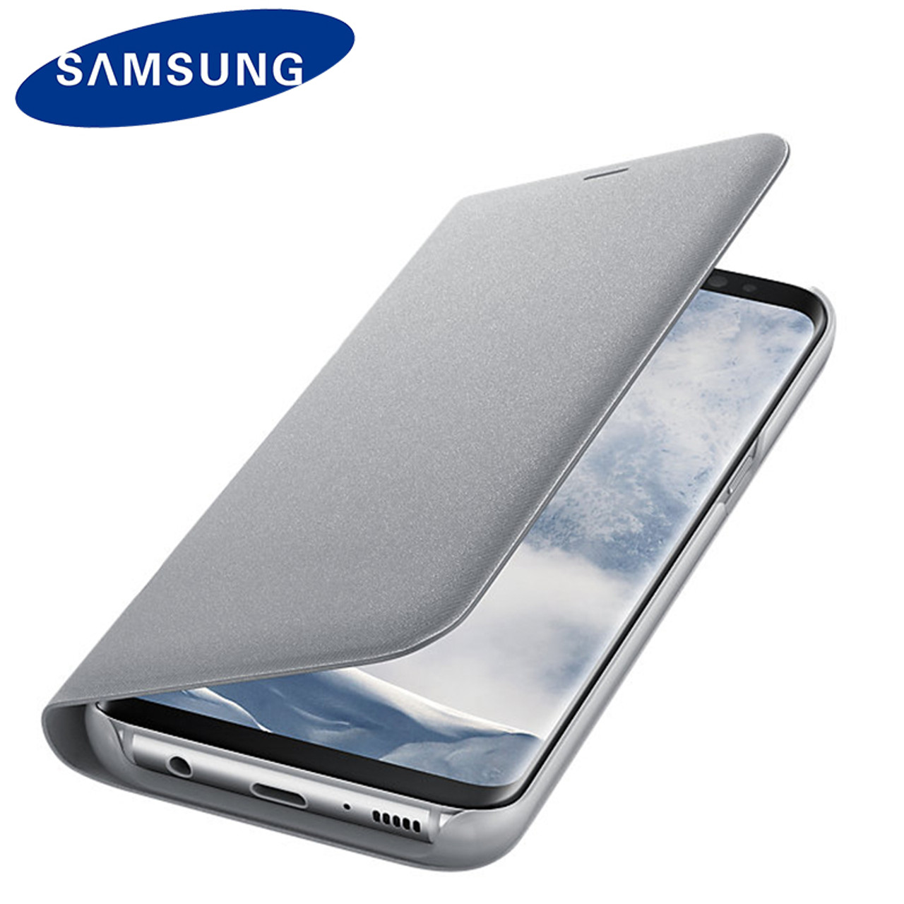 detailed look df4be 8dd2b Samsung Original LED Flip Wallet Case for Samsung S8 Plus Luxury Smart  Leather Shell for Samsung Galaxy S8 LED Cover Shockproof