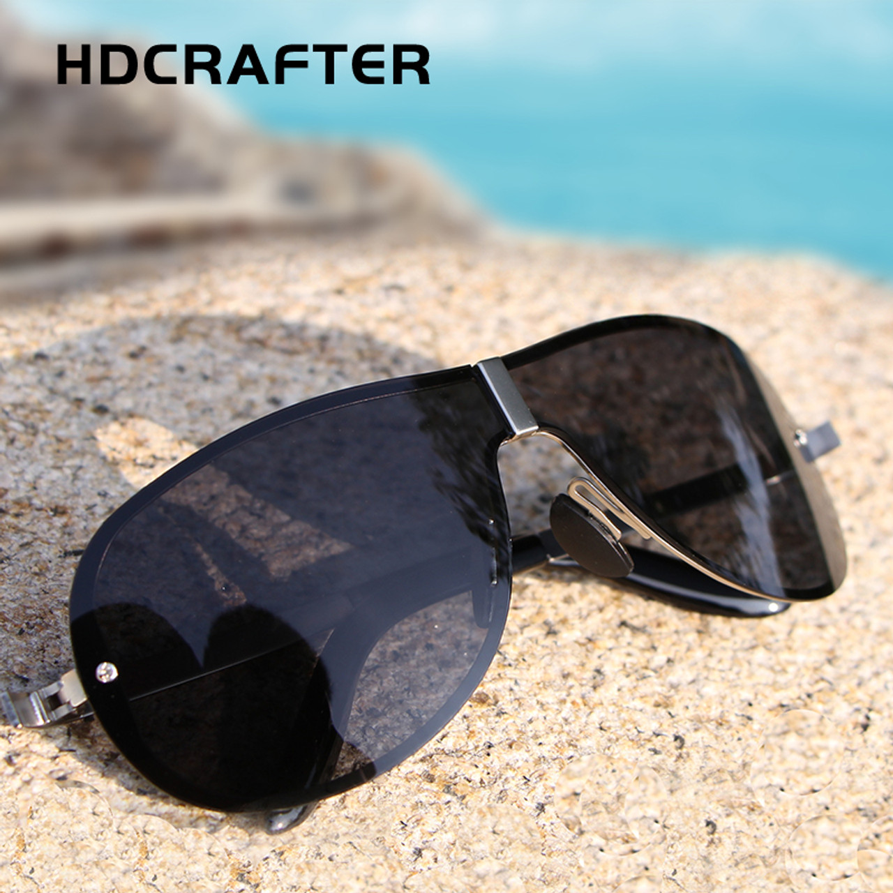 bb58038e89f ... HDCRAFTER Brand Sunglasses for Men 2017 Designer Polarized Driving  Sunglasses Sun Glasses Male Oculos de sol ...
