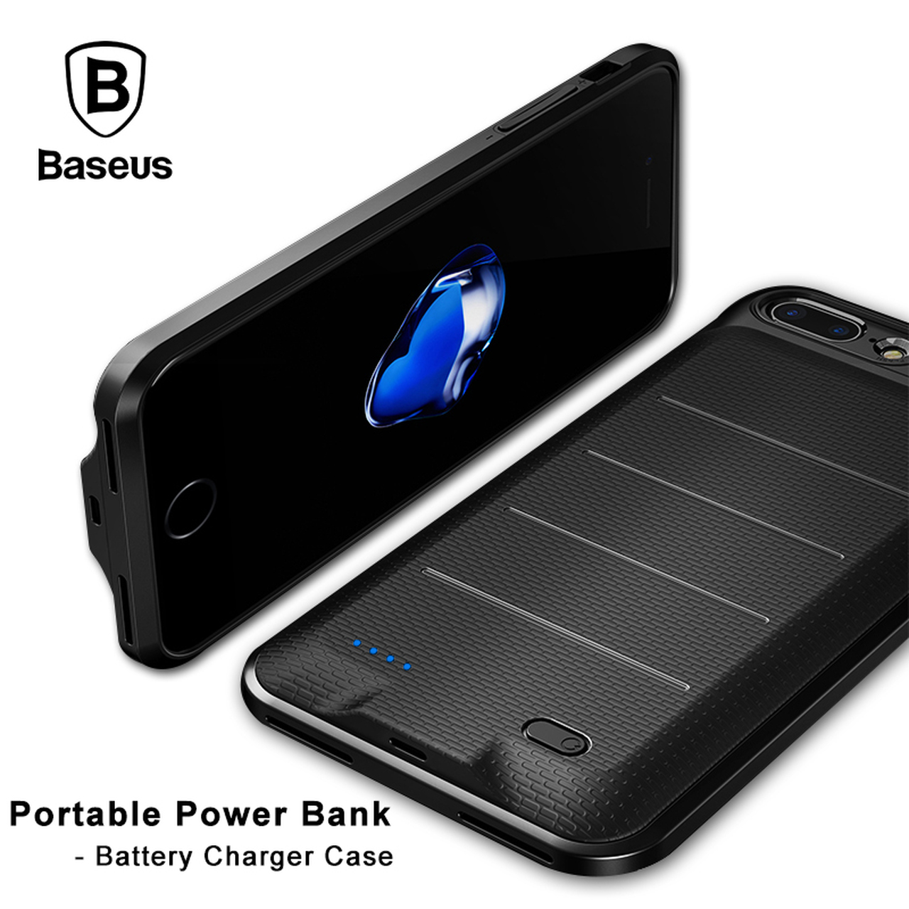 buy online 72847 7862e Baseus Battery Charger Case For iPhone 6 6s 7 Plus 2500/3650mAh Portable  External Battery Backup Power bank Case for iPhone 7