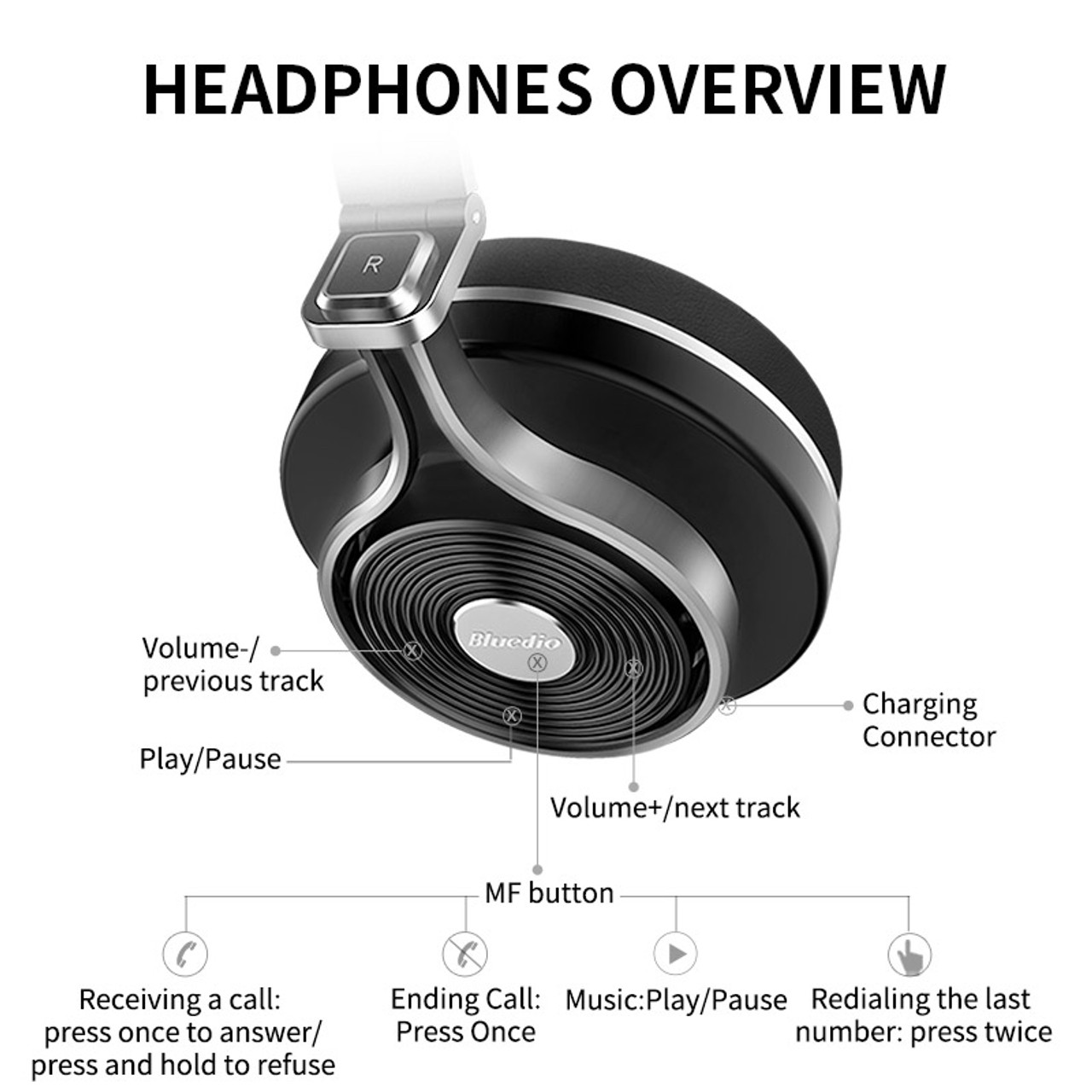 752d12bffd1 ... Bluedio T3 Wireless bluetooth Headphones/headset with Bluetooth 4.1  Stereo and microphone for music wireless ...