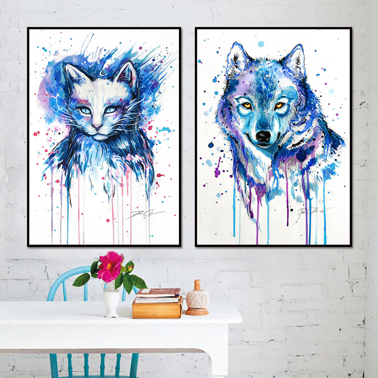 Canvas Art Sets Abstract Animal Canvas Painting Cat Pictures Wolf Painting Modern Wall Art Posters And Prints Nordic Home Decor