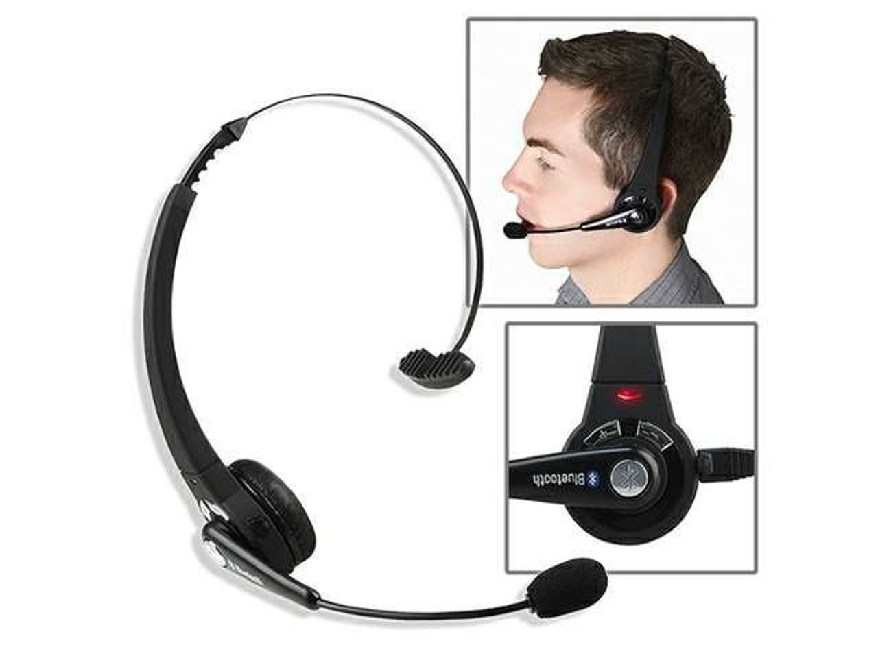 Mono Wireless Bluetooth Headset Headphones Multipoint Noise Canceling With Mic Handsfree For Pc Ps3 Gaming Mobile Phone Laptop Onshopdeals Com