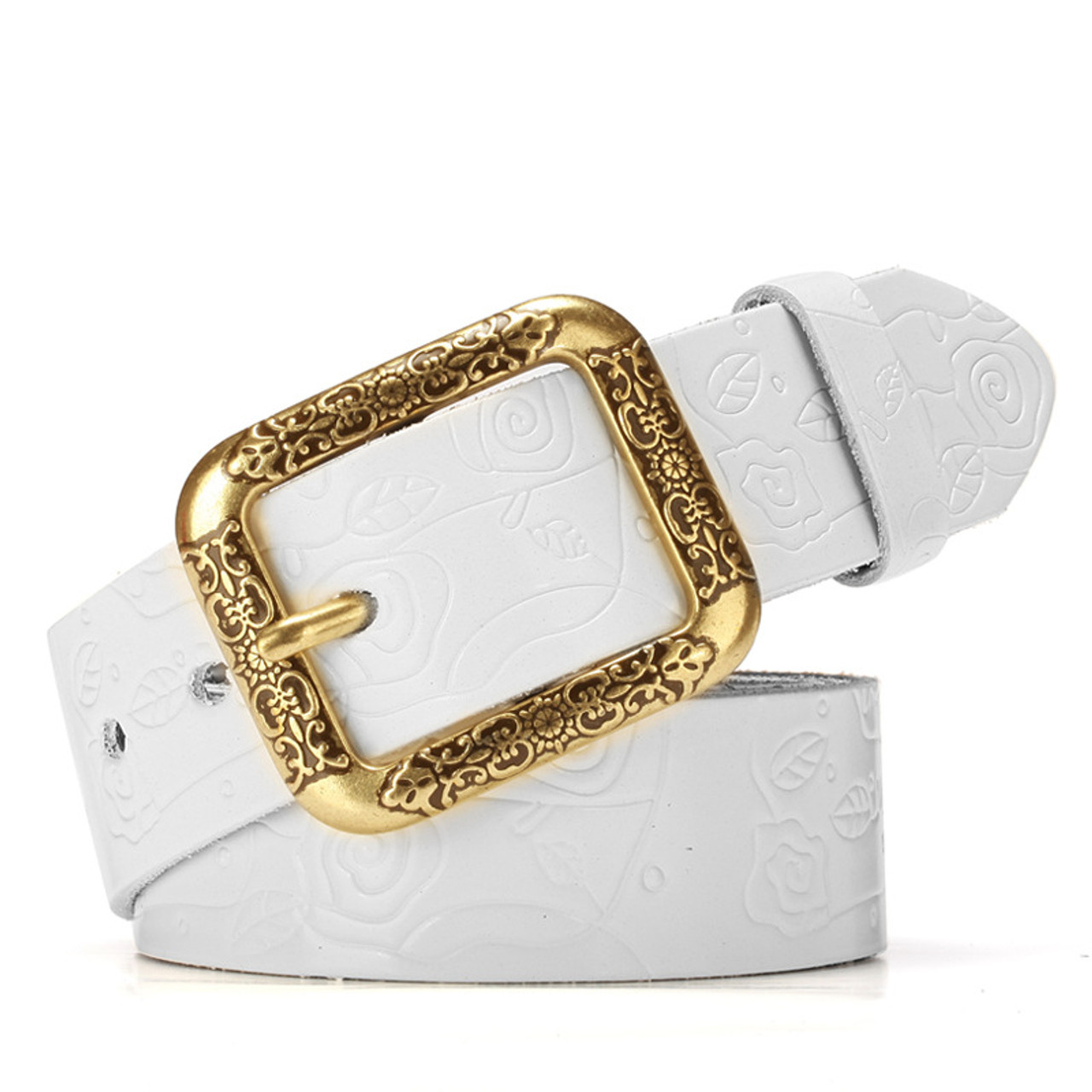 ecc4d45f6 ... 2017 new Designer Brand Women Cow Genuine leather hollow fashion belts  for women female pin buckle ...