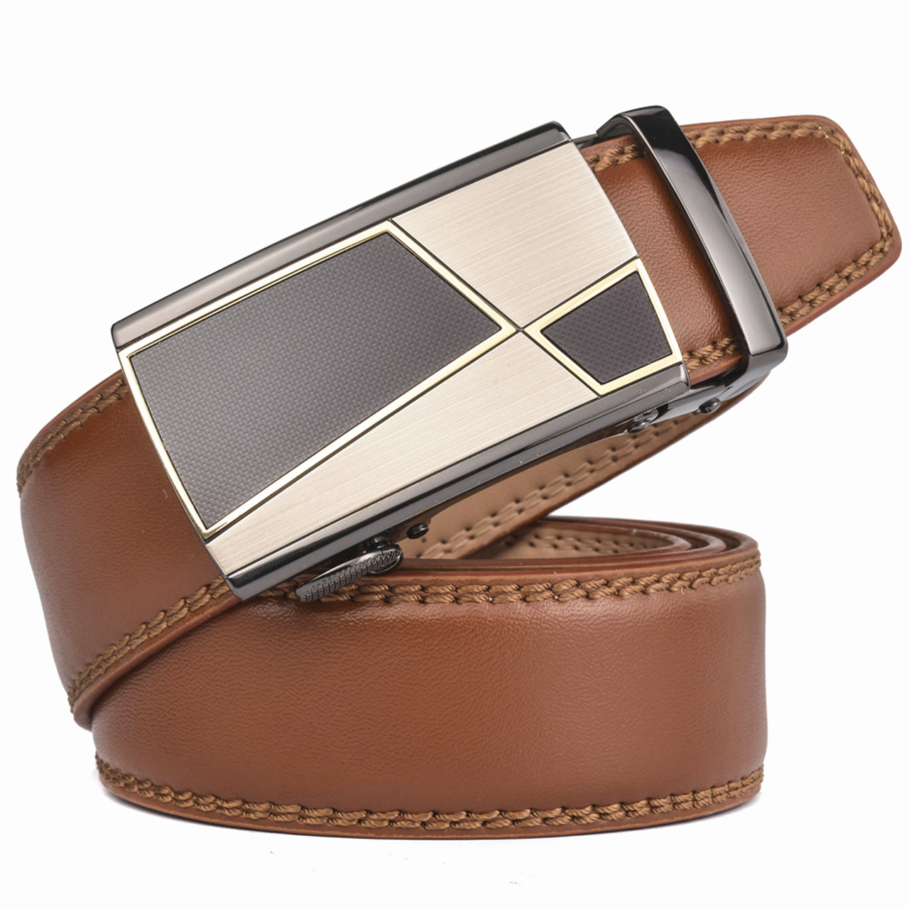 776859397742d ... Plyesxale Automatic Buckle Brown Belt Men 2018 Brand Designer Mens Belts  Luxury Genuine Leather Belt For ...