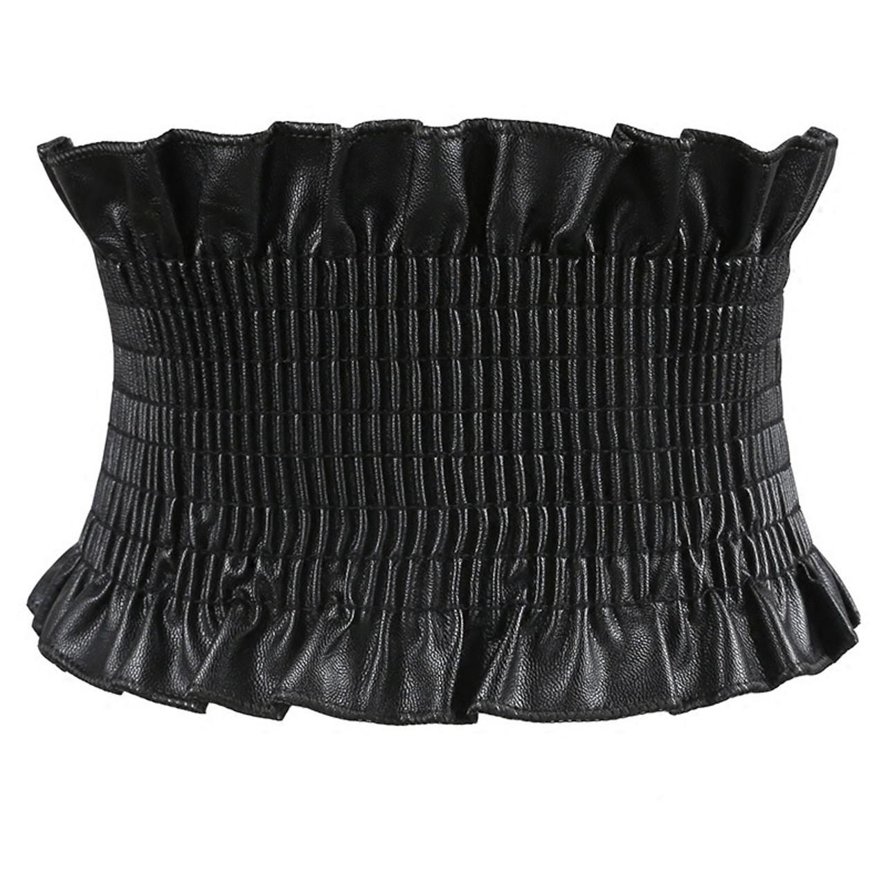 Lady Women Stylish Wide Belt Elastic Stretch Faux Leather Dress Waist Band NEW