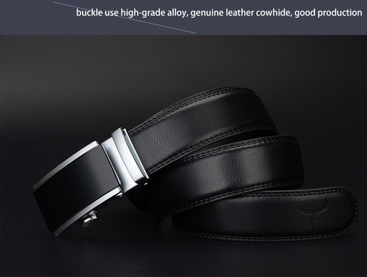 Cowather Vintage Cow Genuine Leather Belts For Men Cowhide Male Strap Automatic Metal Buckle High Quality Men Belts 110-130cm Factory Direct Selling Price Men's Belts