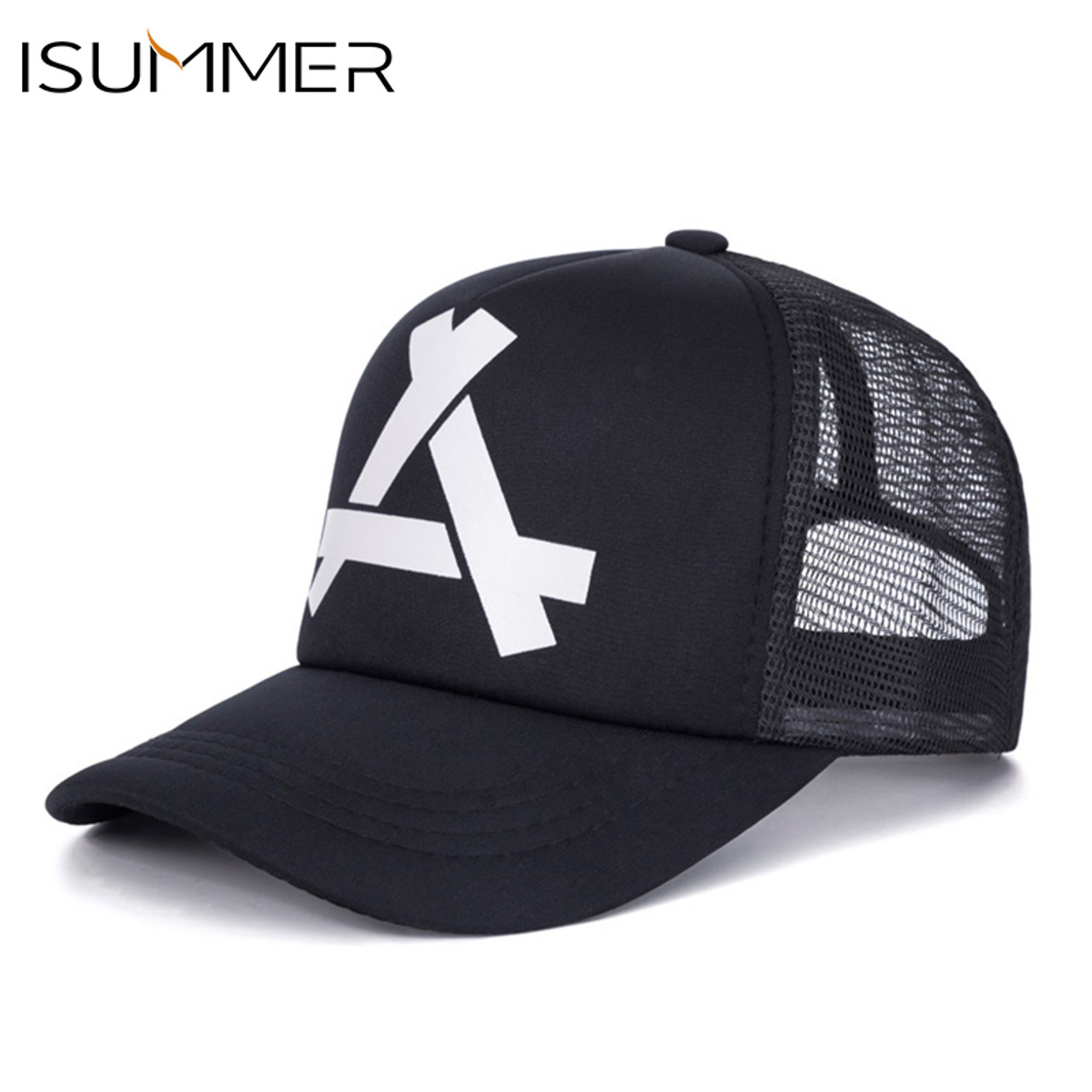 f0a7ca6f3fb ISUMMER 2018 Summer Baseball Mesh Cap Men Hat Hip Hop Snapback Hat Dad Hat  Adjustable Leisure ...