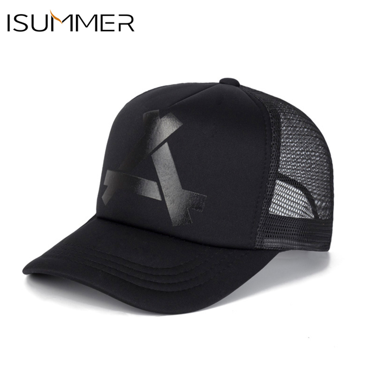 57447504f90 ... ISUMMER 2018 Summer Baseball Mesh Cap Men Hat Hip Hop Snapback Hat Dad  Hat Adjustable Leisure ...