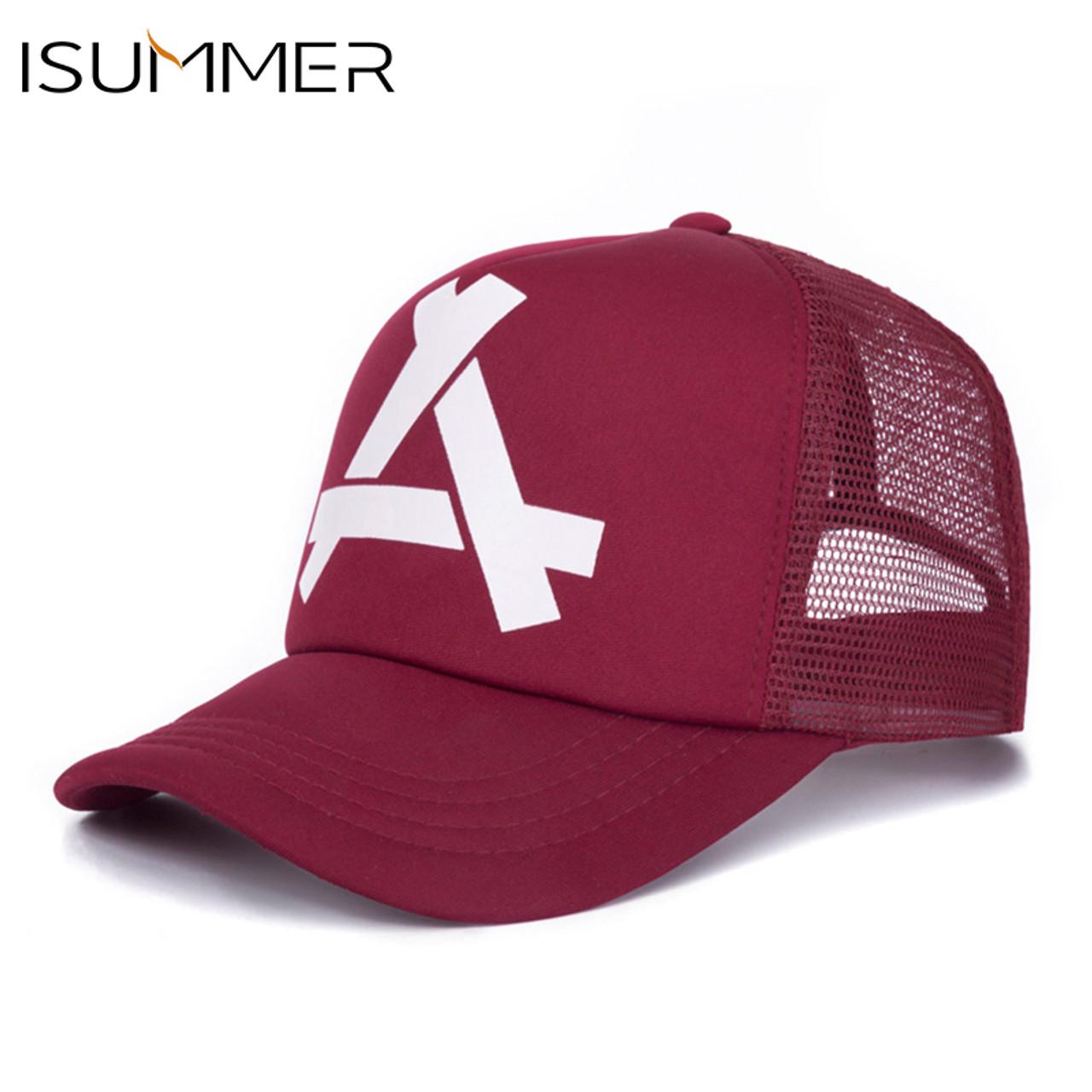 7570e31d94b17 ... ISUMMER 2018 Summer Baseball Mesh Cap Men Hat Hip Hop Snapback Hat Dad  Hat Adjustable Leisure ...