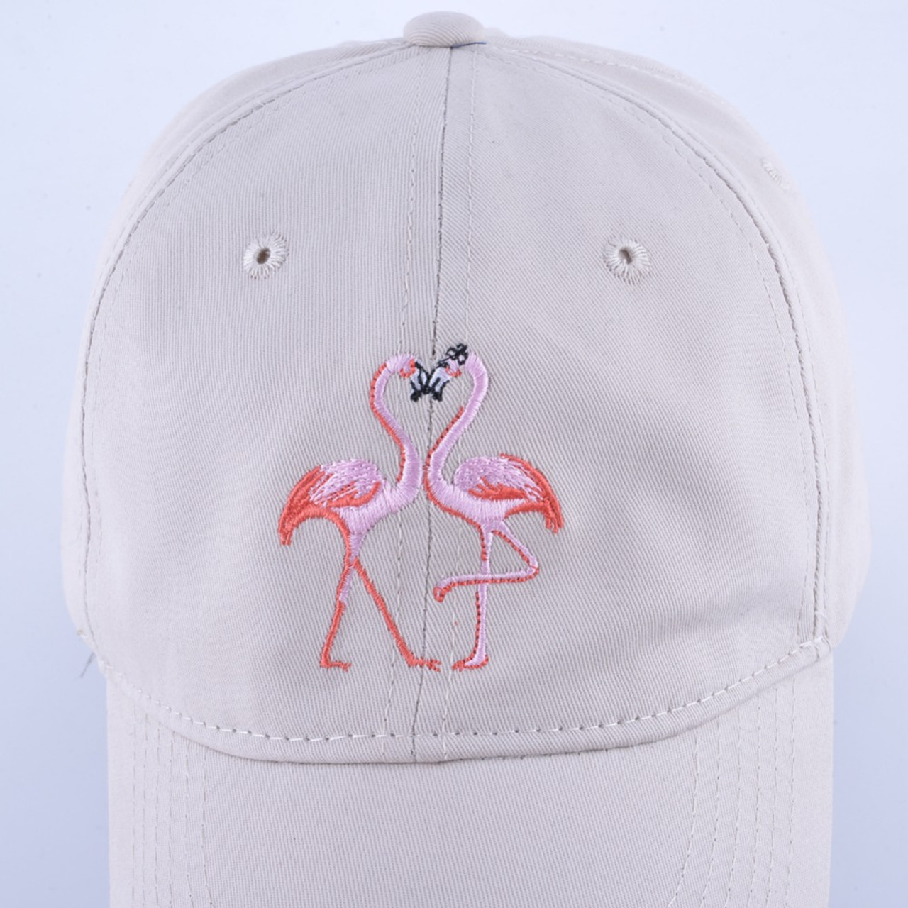 7ae16b9d685 ... New Fashion Unisex Snapback Sun Hat Flamingoe Embroidery Cotton Baseball  Caps Women Men Solid Color Dad ...