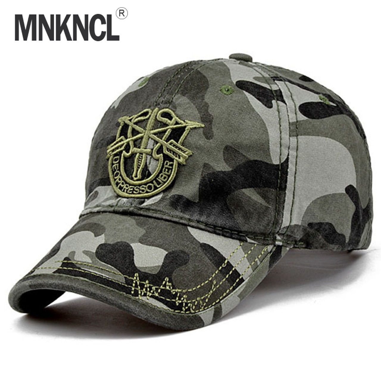 045cc3fc1c94b 2017 New Brand Fashion Army Camo Baseball Cap Men Women Tactical Sun Hat  Letter Adjustable Camouflage ...